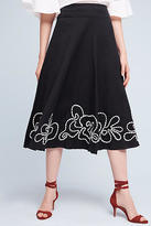 Hd In Paris Floral Hem Midi Skirt