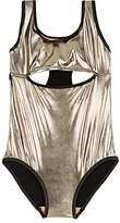Andorine Kids' Metallic Cutout One-Piece Swimsuit