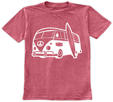 Urban Smalls Heather Red Surf Bus Tee - Toddler & Boys