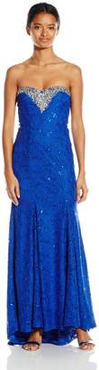 My Michelle Junior's Strapless Long Prom Dress with Sweetheart Neckline