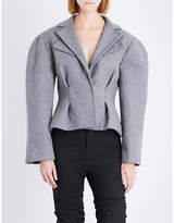 Jacquemus Ladies Light Grey Pleated Button fastening Le Petite Wool-Blend Jacket