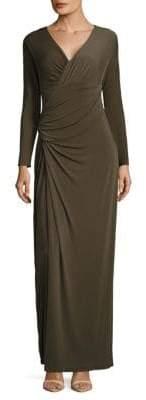 Vera Wang Taupe Ruched Dress