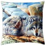 "iRocket - Resting Wolf - Throw Pillow Cover (24"" x 24"", 60cm x 60cm)"