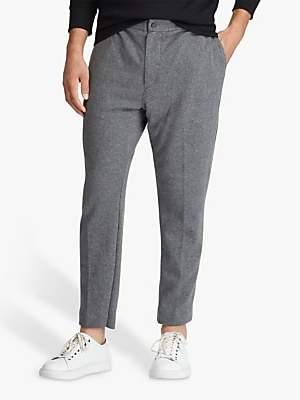 Ralph Lauren Polo Cotton Knit Joggers, Grey Heather