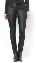 Anne Weyburn Coated Faux Leather Trousers
