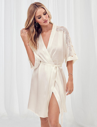 Marks and Spencer Silk Bridal Short Wrap Dressing Gown