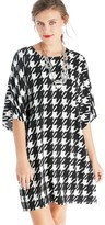 Sole Society Graphic Houndstooth Dolman Dress