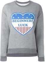 Zoe Karssen 'beginners luck' print sweatshirt