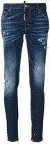 DSQUARED2 distressed skinny jeans - women - Cotton/Spandex/Elastane - 36