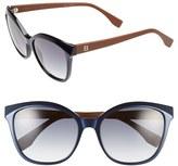 Fendi Women's 55Mm Retro Sunglasses - Navy/ Caramel