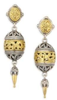 Konstantino Gaia 18K Yellow Gold& Sterling Silver Open Ball Drop Earrings
