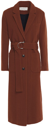 American Vintage Louping Belted Wool-blend Felt Coat