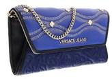 Versace Ee3vobpk3 Emaf Blue/black Wallet On A Chain.