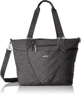 Baggallini Women's Avenue Tote Bag Lightweight Quilted Nylon Organizational Pockets Top Handle Handbag