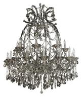 Filament Design Xavier 48-Light Smoke Chandelier