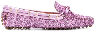Car Shoe Glitter Driving loafers