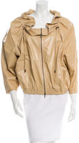 Lanvin Leather Three-Quarter Sleeve Jacket