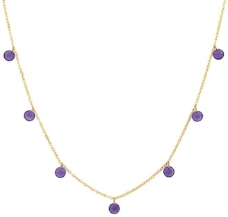 Bony Levy El Mar 18K Yellow Gold 7 Seven Amethyst Floating Necklace