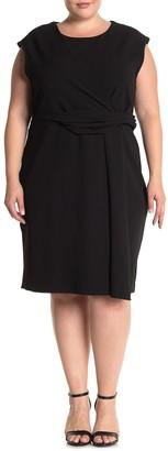 Rachel Roy Ruched Front Midi Dress (Plus Size)