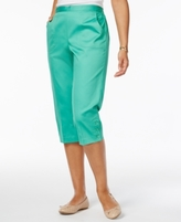 Alfred Dunner Petite Bahama Bays Pull-On Capris
