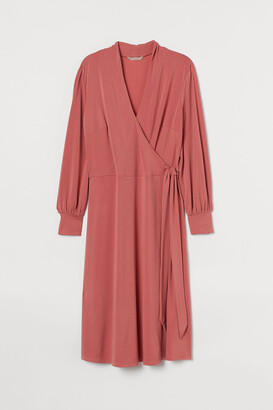 H&M H&M+ Calf-length Wrap Dress