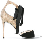 Rene Caovilla embellished ribbon sandals - women - Leather/Suede/PVC/rubber - 37
