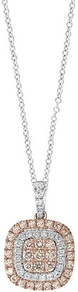 Effy 14K Two-Tone Gold, Diamond & Natural Pink Diamond Pendant Necklace