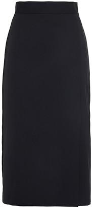 Bella Freud Satin-trimmed Wool Pencil Skirt