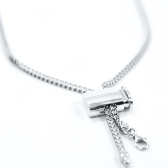 Undefined Jewelry Franco Chain Necklace With Flask Stopper