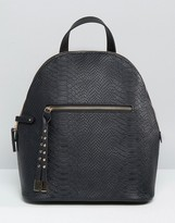 Asos Snake Embossed Mini Backpack