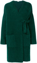 P.A.R.O.S.H. fluffy knitted cardigan coat - women - Polyamide/Angora/Wool - XS