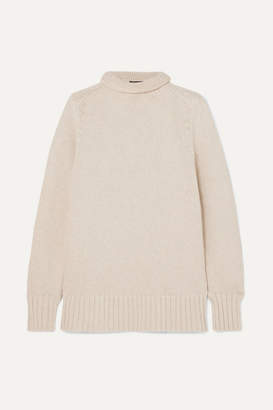 Joseph Sloppy Joe Cotton-bend Turtleneck Sweater - Ecru