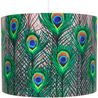 Katie & The Wolf Peacock Feathers Lampshade Large