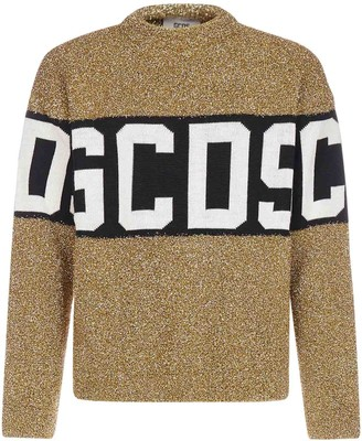 GCDS Band-logo Lurex Sweater