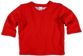 Petit Bateau - Long Sleeve Reversible Shirt (Infant) (Crimson Red/Taupe)