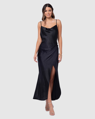 Pilgrim Women's Black Maxi dresses - Allure Satin Gown - Size One Size, 8 at The Iconic