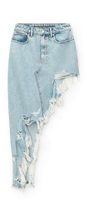 Alexander Wang Asymmetric Frayed Skirt