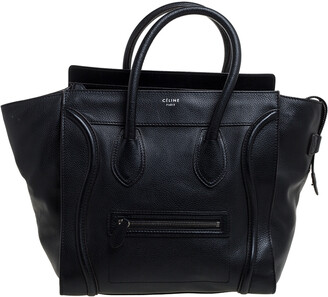 Celine Black Leather Mini Luggage Tote