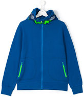 Stella McCartney zipped hoodie - kids - Cotton/Polyester - 14 yrs