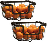 Mikasa Gourmet Basics Set of 2 Stacking Organization Baskets