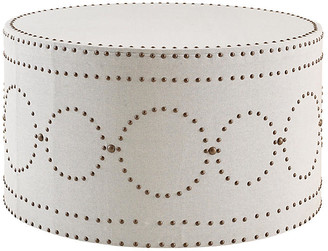 Imagine Home Sienna Coffee Table - Ivory upholstery, ivory; nailheads, antiqued brass