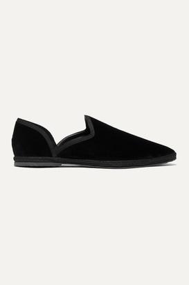 The Row Friulane Velvet Slippers - Black