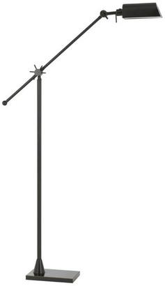 Calighting 7W 3000K LED Adjustable Metal Floor Lamp w/ Metal Shade, Dark Bronze F