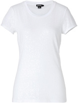 DKNY Cotton Allover Sequined Top in White