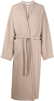 Kassl Editions V-Wrap wool coat