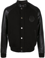 Versace bomber jacket - men - Cotton/Lamb Skin/Spandex/Elastane - 48