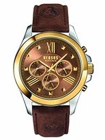 Versus By Versace Men's SBH030015 Chrono Lion Analog Display Quartz Brown Watch
