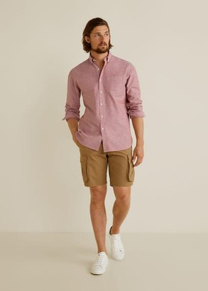 MANGO Regular fit Oxford cotton shirt