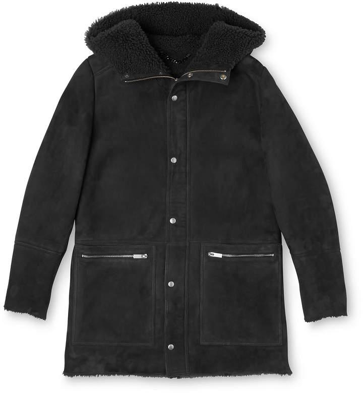 Whistles Shearling Modern Duffle Coat