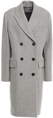 IRO Argus Double-breasted Wool-blend Felt Coat